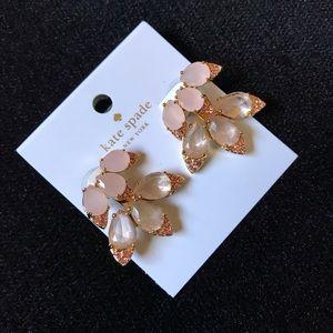 Kate spade blushing blooms earrings